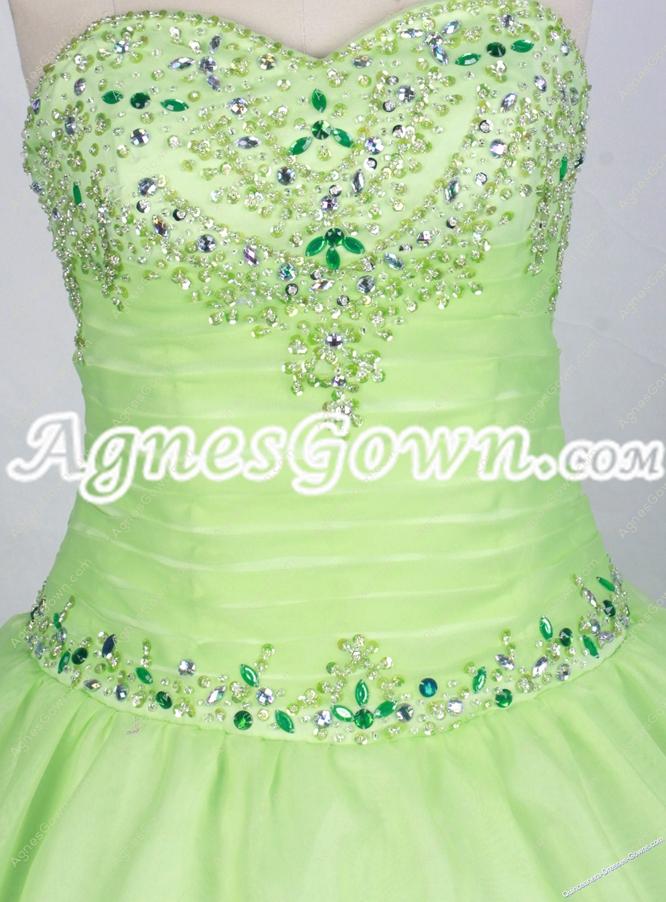 Sweet Sage Color Quinceanera Dress