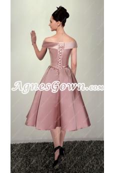 2016 Vintage Off The Shoulder Prom Dress