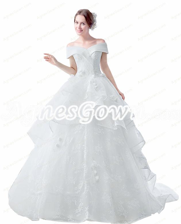 2016 Wedding Dresses,Corset Back Off Shoulder Ball Gown Wedding ...