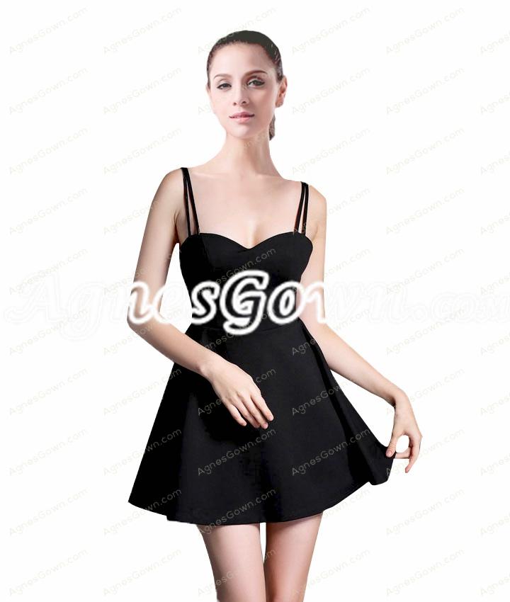 Sexy Spaghetti Straps Little Black Dress Under 100
