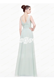 Charming A-line Sage Colored Spring Bridesmaid Dress