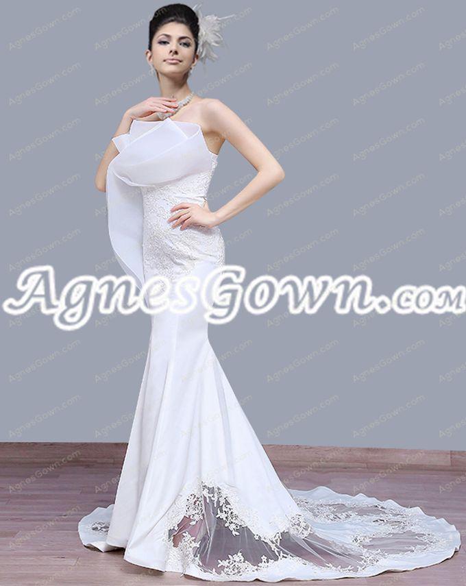 Special Mermaid/Trumpet Wedding Dress Chapel Train