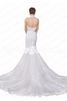 Top Halter Corset Back Mermaid/Trumpet Wedding Dress
