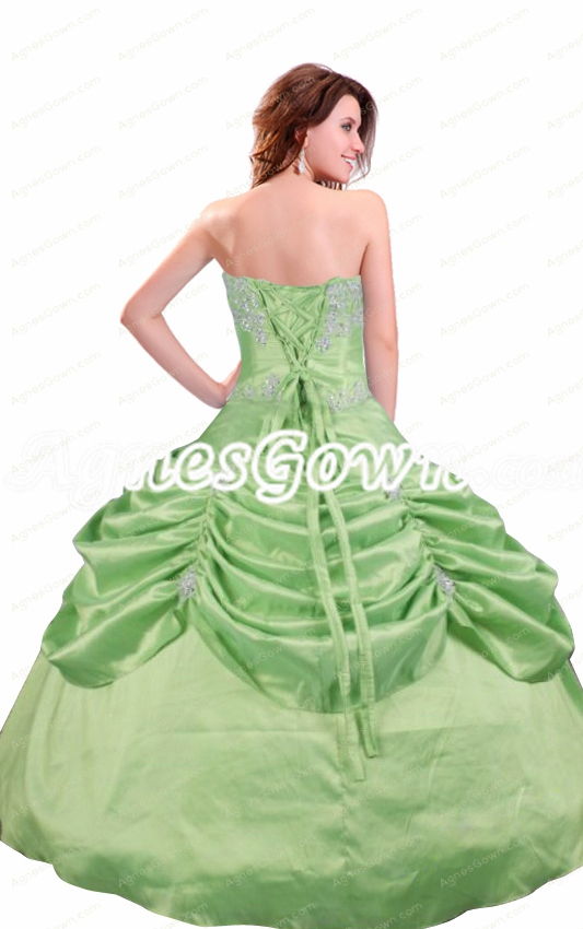 Lovely Corset Back Lime Green Quinceanera Dress