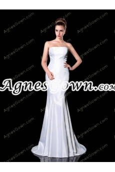Charming Satin Mermaid/Trumpet Wedding Dress