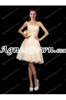 Cute Pearl Pink Short Graduation Dress With Handmade Flower