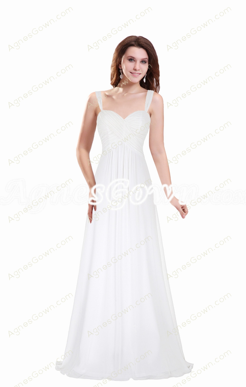 Cheap Straps A-line Simple Bridesmaid Dress