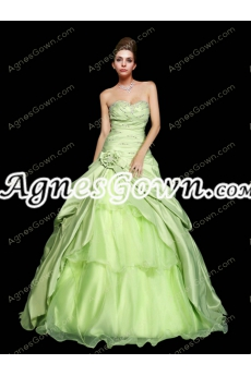 Beautiful Lime Green Ball Gown Quinceanera Dress
