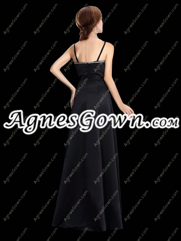 Classy Black And White Spaghetti Straps Mother Of The Bride Dress